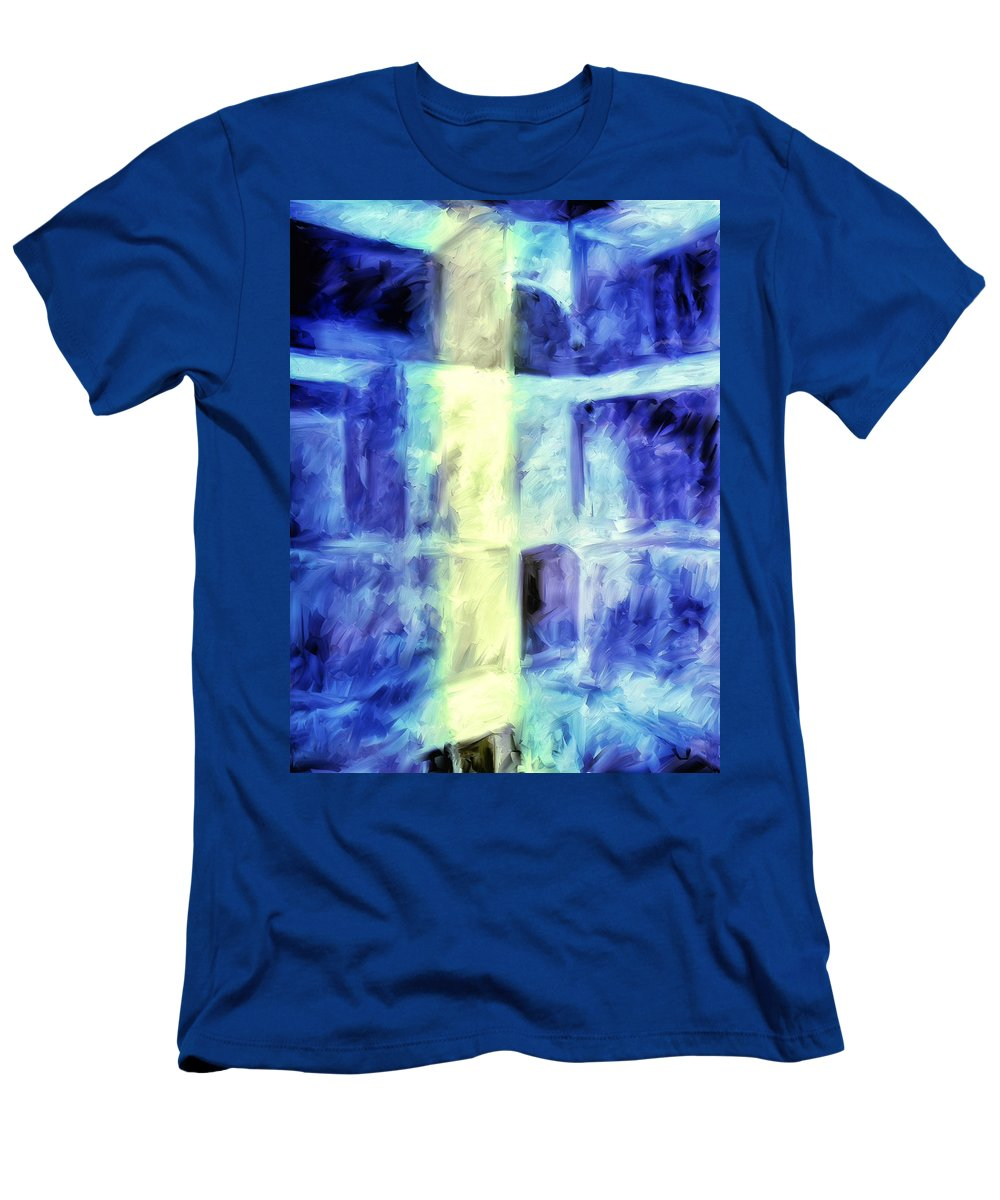 Abstract Men's T-Shirt (Athletic Fit) featuring the painting Apartments Three Am by Dominic Piperata