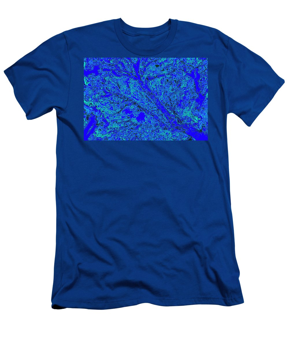 Trees Men's T-Shirt (Athletic Fit) featuring the photograph Arboreal Plateau 16 by Gary Bartoloni