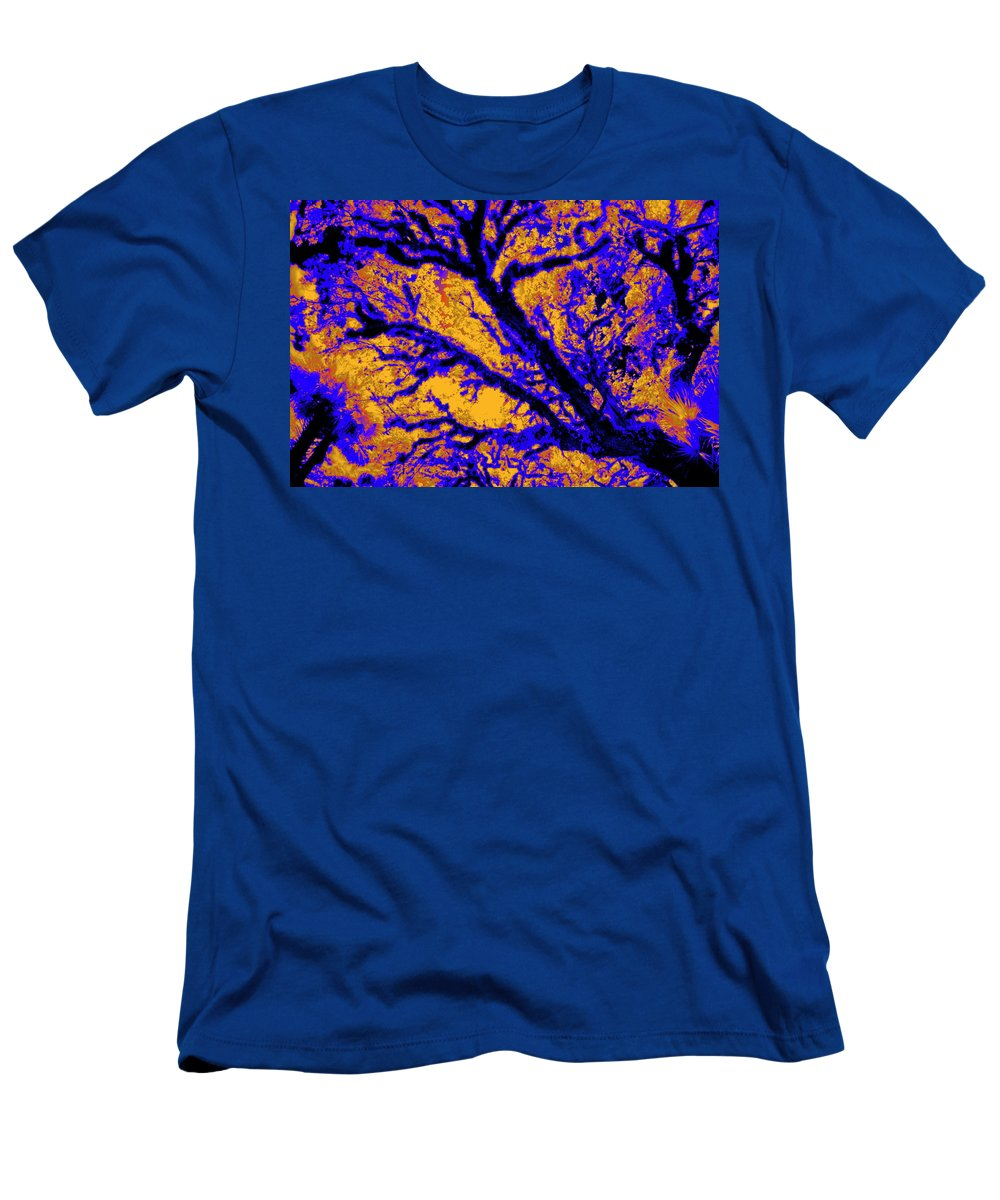 Trees Men's T-Shirt (Athletic Fit) featuring the photograph Arboreal Plateau 7 by Gary Bartoloni