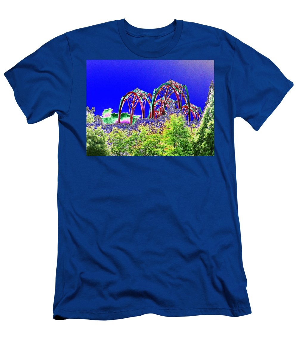 Seattle Men's T-Shirt (Athletic Fit) featuring the photograph Arches 6 by Tim Allen
