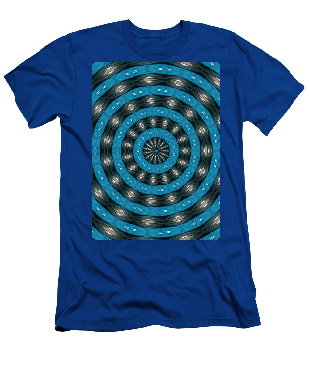 Abstract Men's T-Shirt (Athletic Fit) featuring the digital art Art In Motion by Catherine Ortlieb