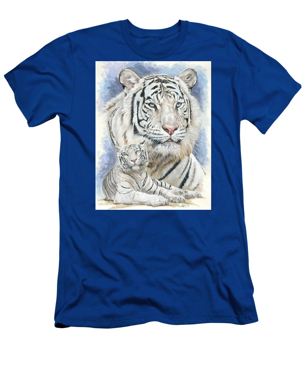 Big Cat Men's T-Shirt (Athletic Fit) featuring the mixed media Dignity by Barbara Keith