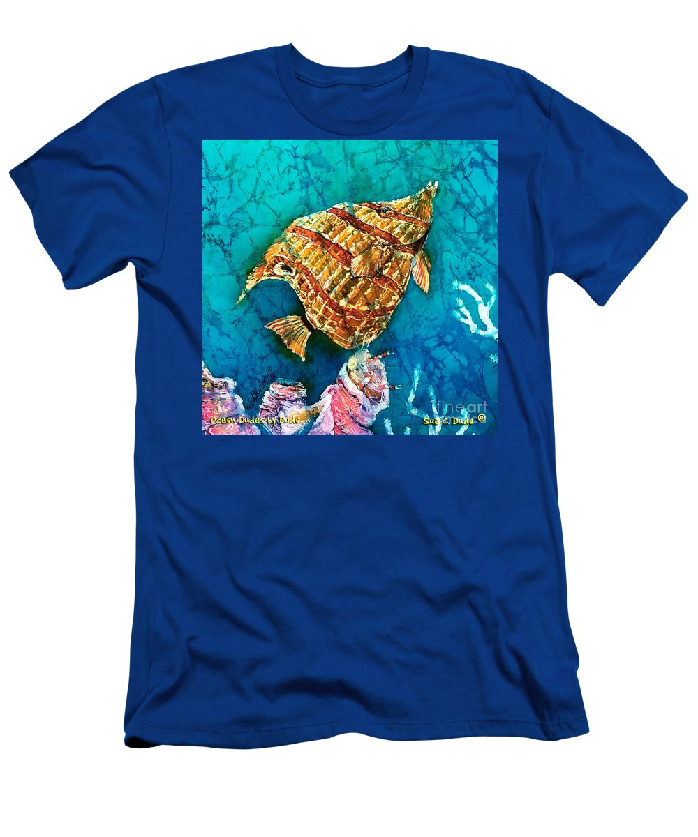 Beaked Butterflyfish Men's T-Shirt (Athletic Fit) featuring the painting Ascending by Sue Duda