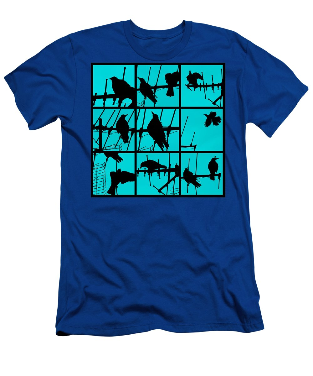 Birds Men's T-Shirt (Athletic Fit) featuring the photograph Asylum by Andrew Paranavitana