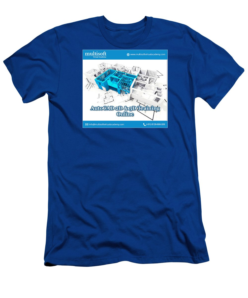 Autocad 2d & 3d Online Training Men's T-Shirt (Athletic Fit) featuring the photograph Autocad Online Training by Multisoft Virtual Academy