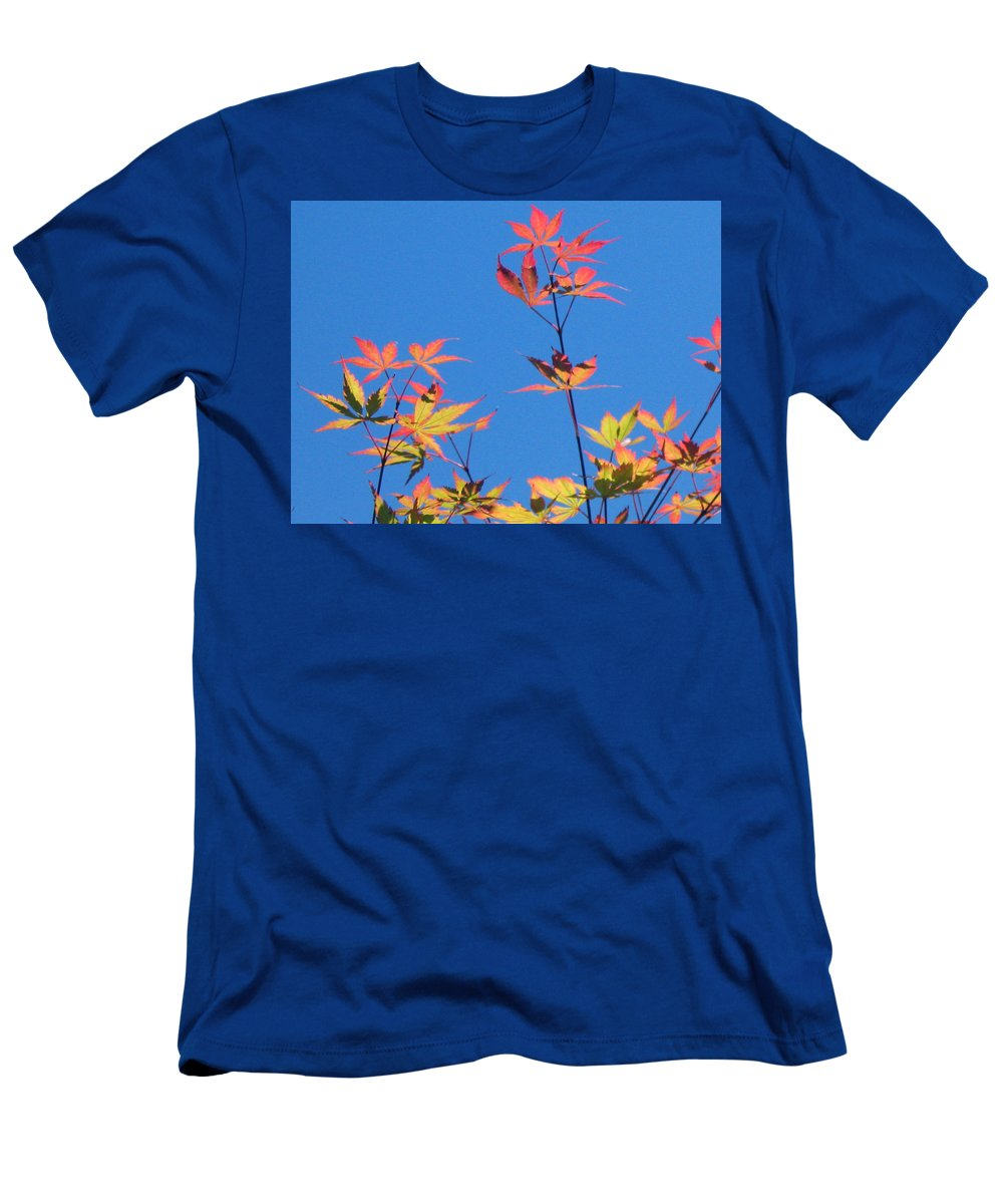 Landscape Men's T-Shirt (Athletic Fit) featuring the photograph Autumn Skies by Dawn Marshall