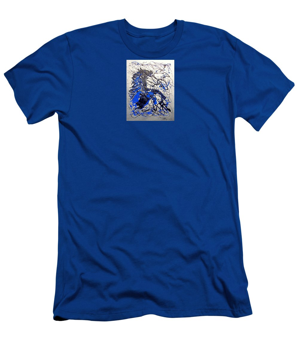 Abstract/impressionist Art Men's T-Shirt (Athletic Fit) featuring the painting Azul Diablo by J R Seymour