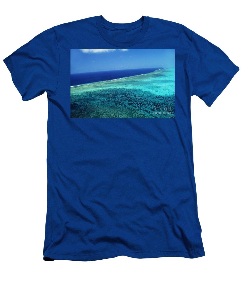 Above Men's T-Shirt (Athletic Fit) featuring the photograph Babeldoap Islands by Allan Seiden - Printscapes