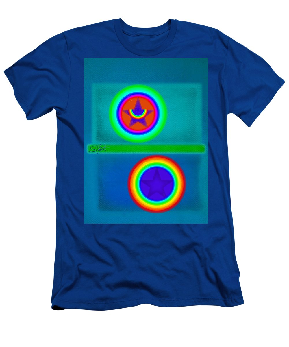 Balance Men's T-Shirt (Athletic Fit) featuring the painting Balancing Act by Charles Stuart
