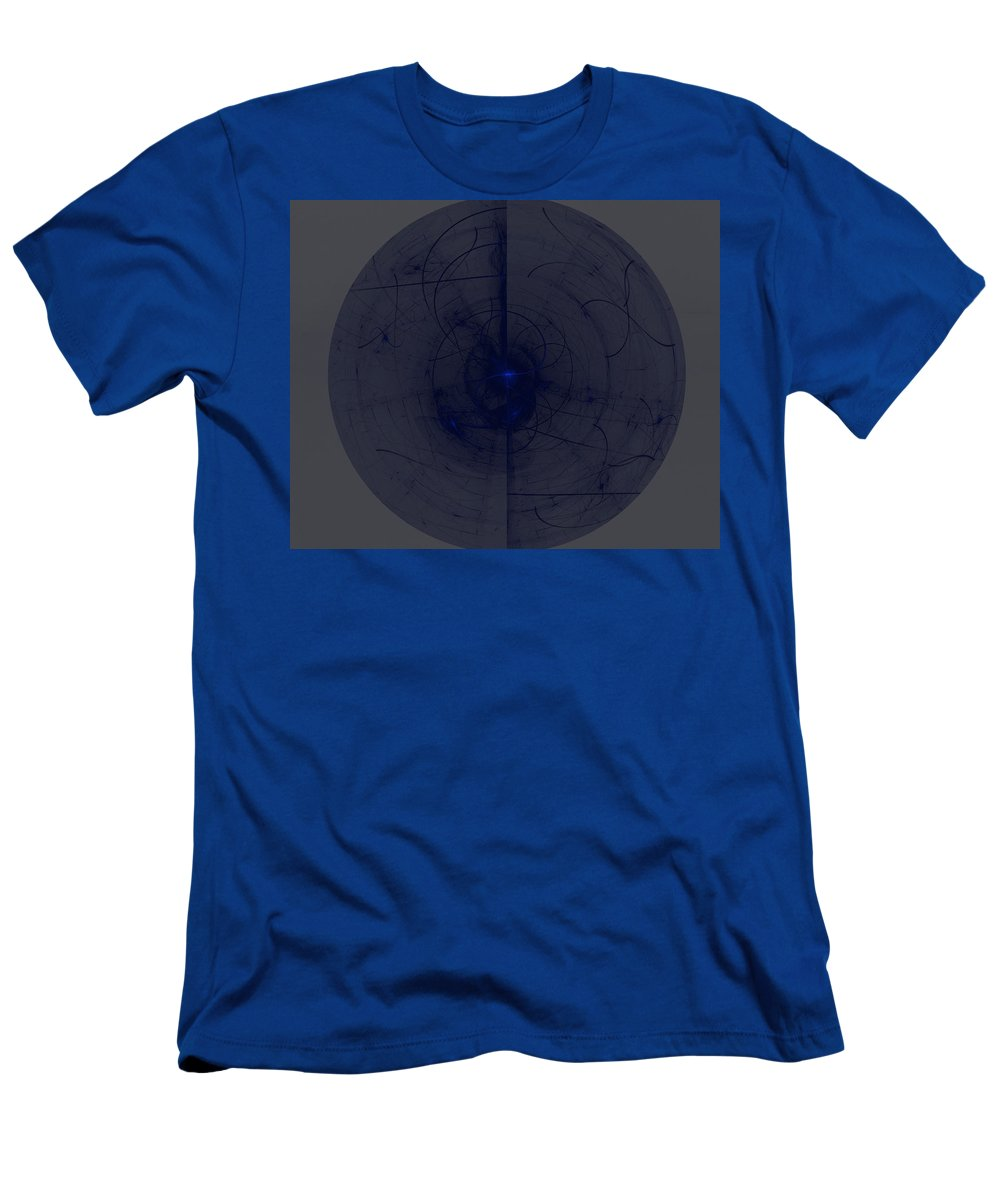 Ball Lightning Men's T-Shirt (Athletic Fit) featuring the digital art Ball Lightning by Emilio Pacheco