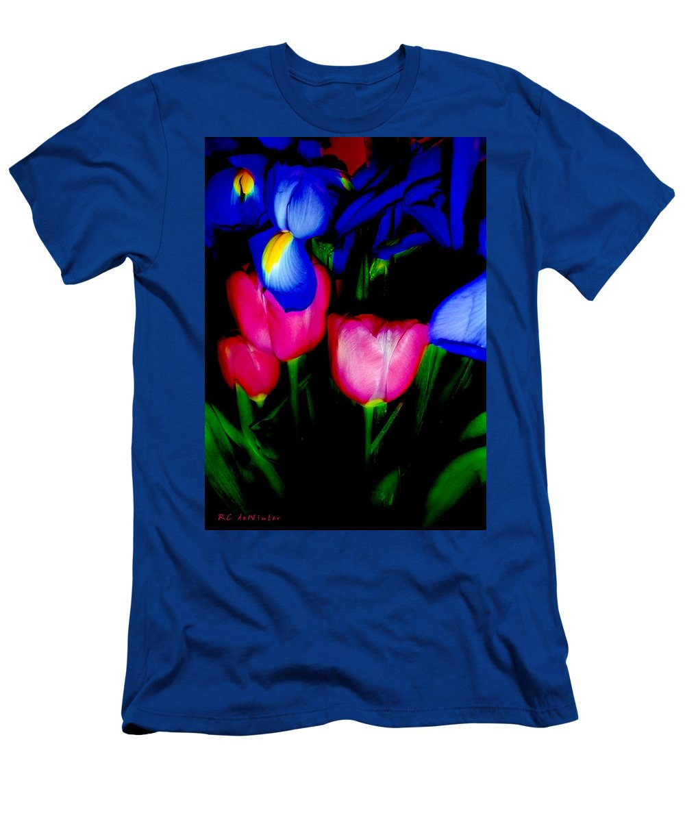 Tulips Men's T-Shirt (Athletic Fit) featuring the photograph Bare Essentials by RC DeWinter