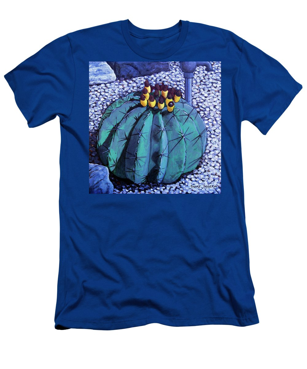 Nature Men's T-Shirt (Athletic Fit) featuring the painting Barrel Buds by Snake Jagger