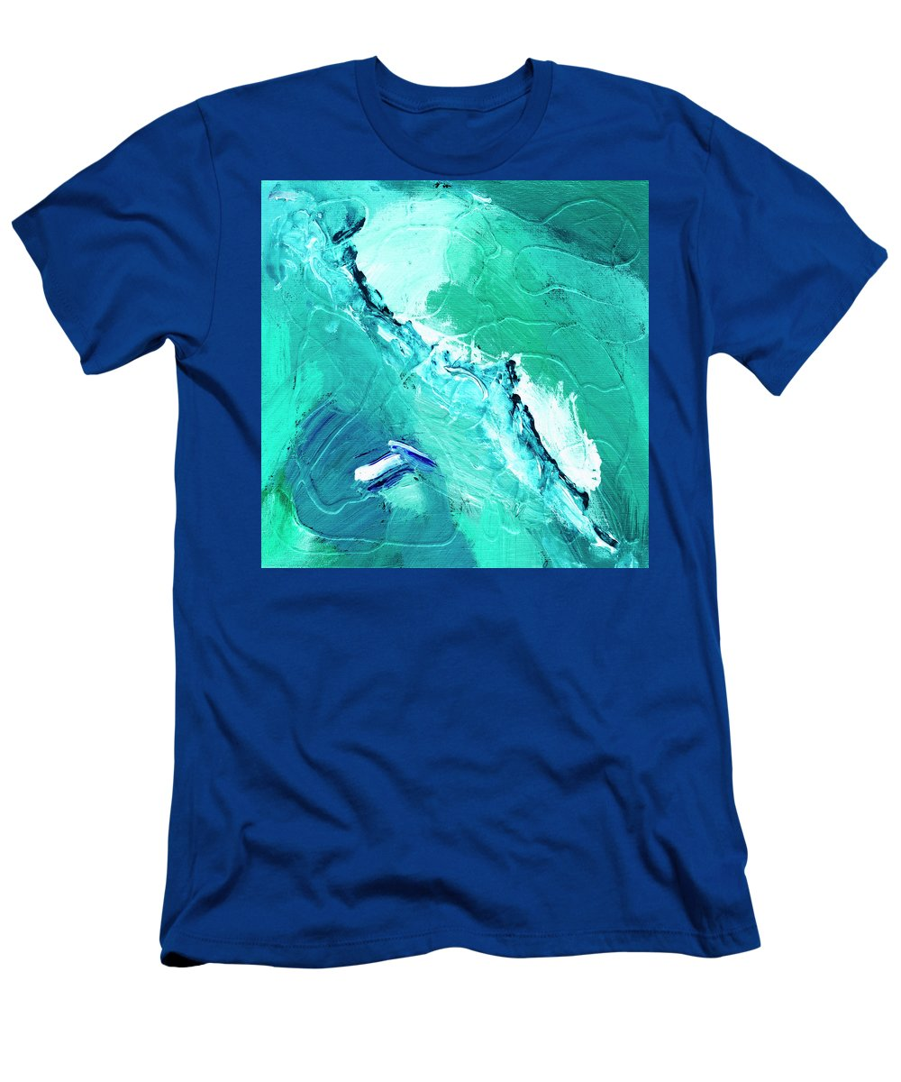 Abstract Men's T-Shirt (Athletic Fit) featuring the painting Barrier Reef by Dominic Piperata