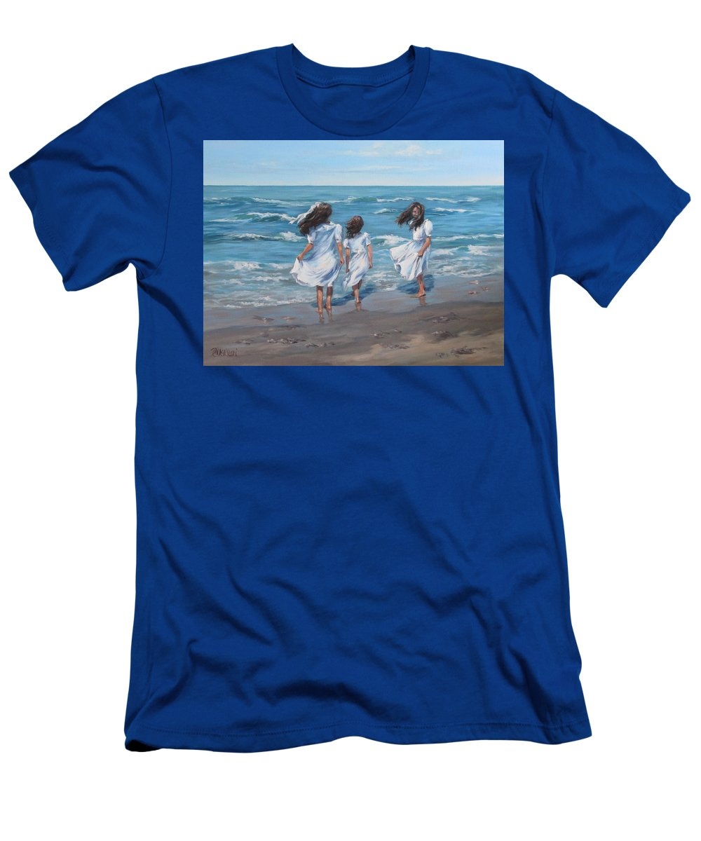 Beach T-Shirt featuring the painting Beach Day by Karen Ilari