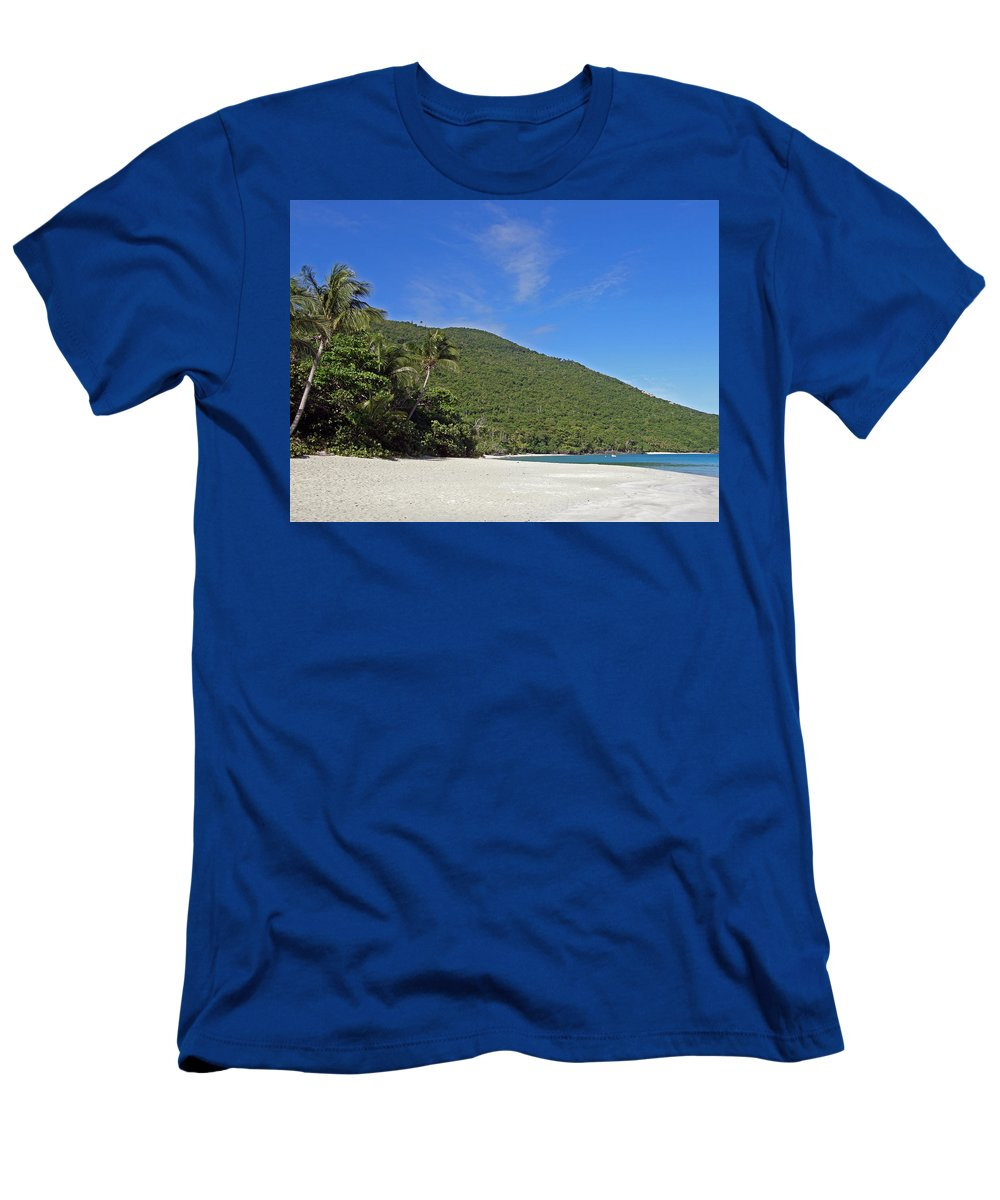 Ocean Men's T-Shirt (Athletic Fit) featuring the photograph Beach by Kimberly Mohlenhoff