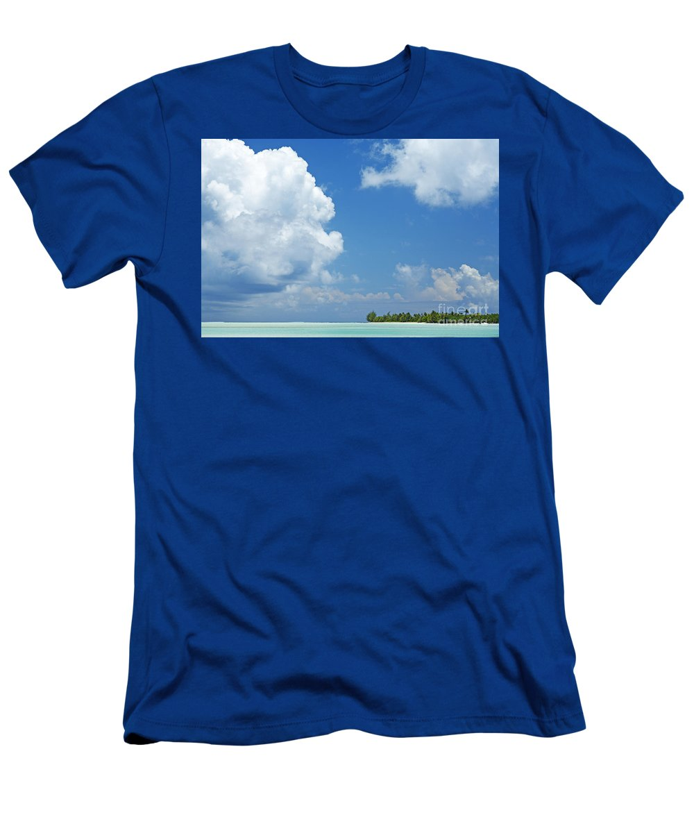 Beach Men's T-Shirt (Athletic Fit) featuring the photograph Beautiful Day In Tahiti by Kyle Rothenborg - Printscapes