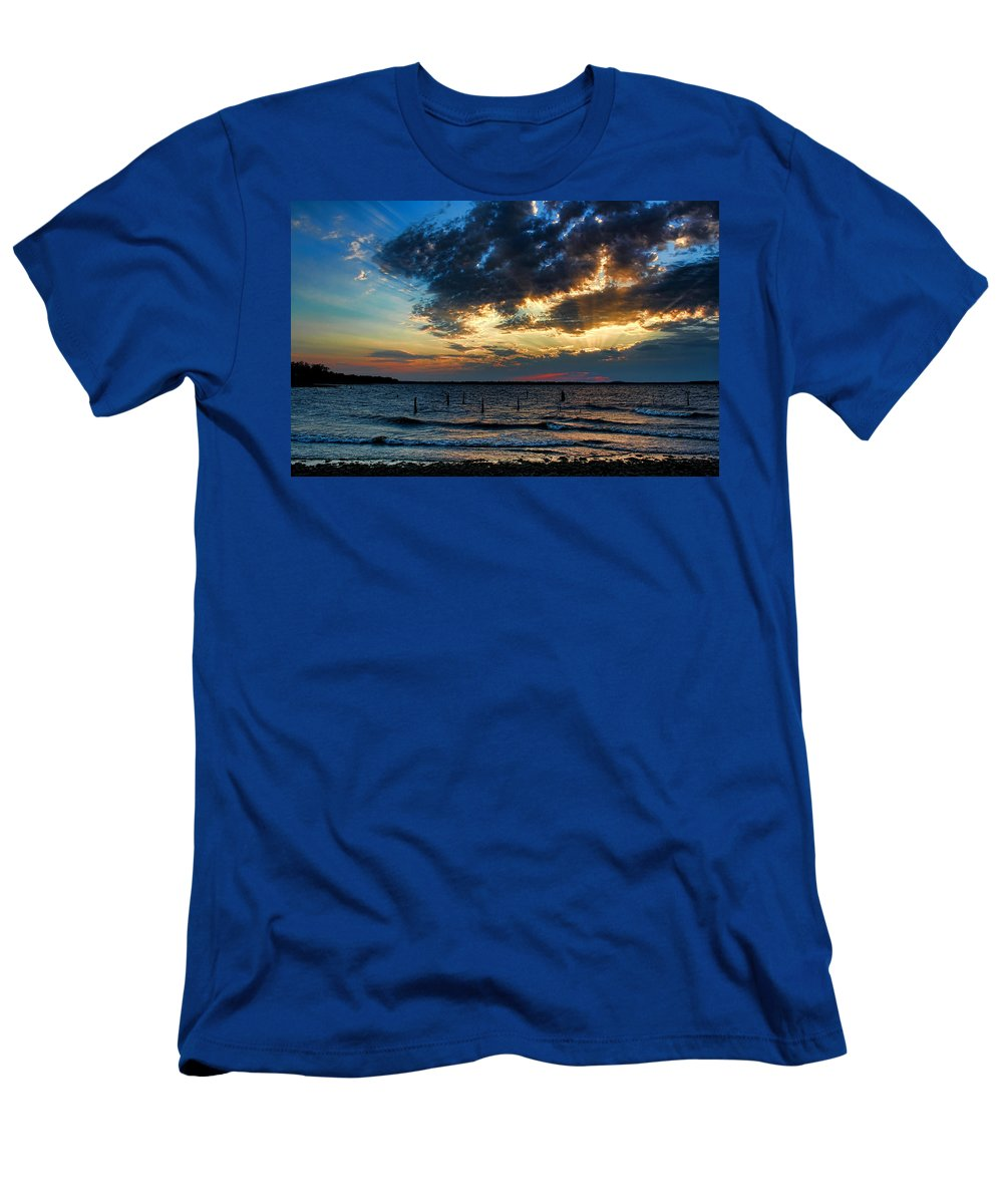 Sunset Men's T-Shirt (Athletic Fit) featuring the photograph Before The Storm by Carolyn Fletcher