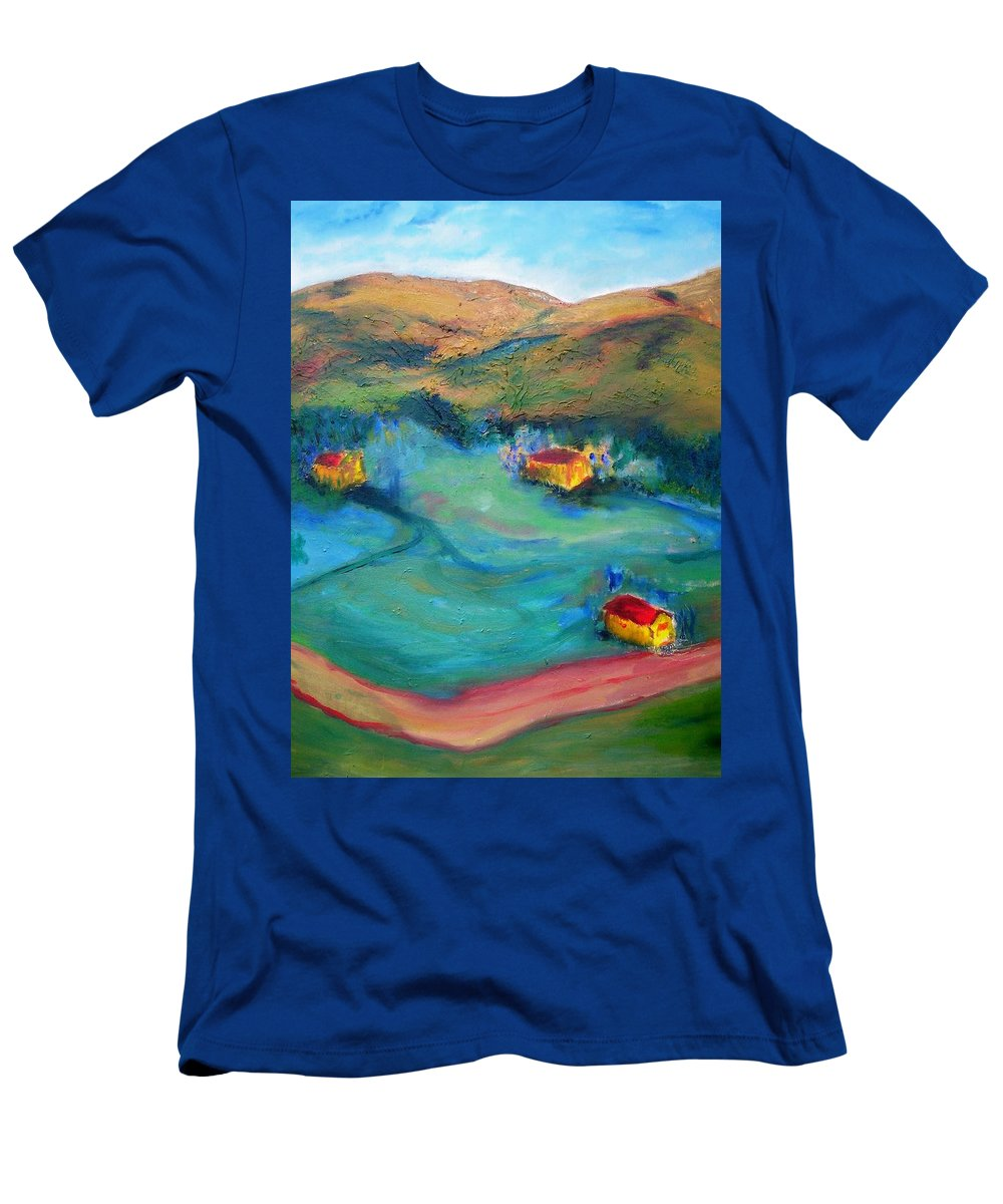 Landscape T-Shirt featuring the painting Beit Shemesh by Suzanne Udell Levinger