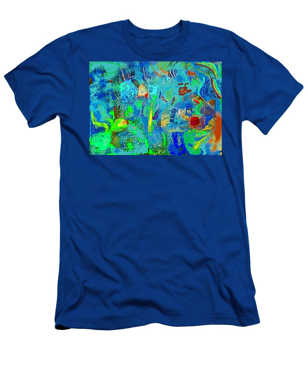 Men's T-Shirt (Athletic Fit) featuring the digital art Beneath The Surface by Randolph Thompson