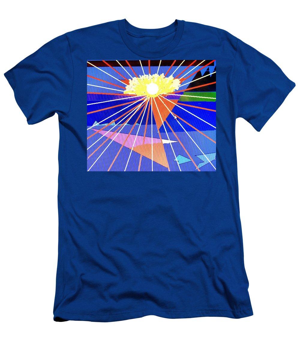 Sunset Men's T-Shirt (Athletic Fit) featuring the digital art Bermuda Sunset by Ian MacDonald