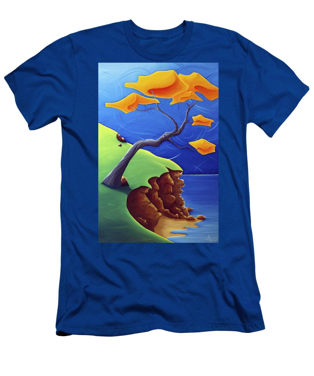 Landscape Men's T-Shirt (Athletic Fit) featuring the painting Beyond Limitations by Richard Hoedl