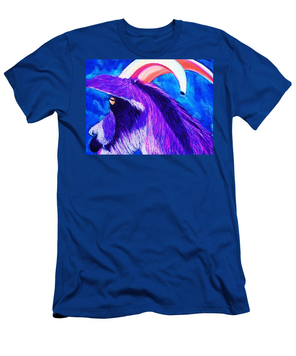 Goat Men's T-Shirt (Athletic Fit) featuring the pastel Billy The Kid by Melinda Etzold