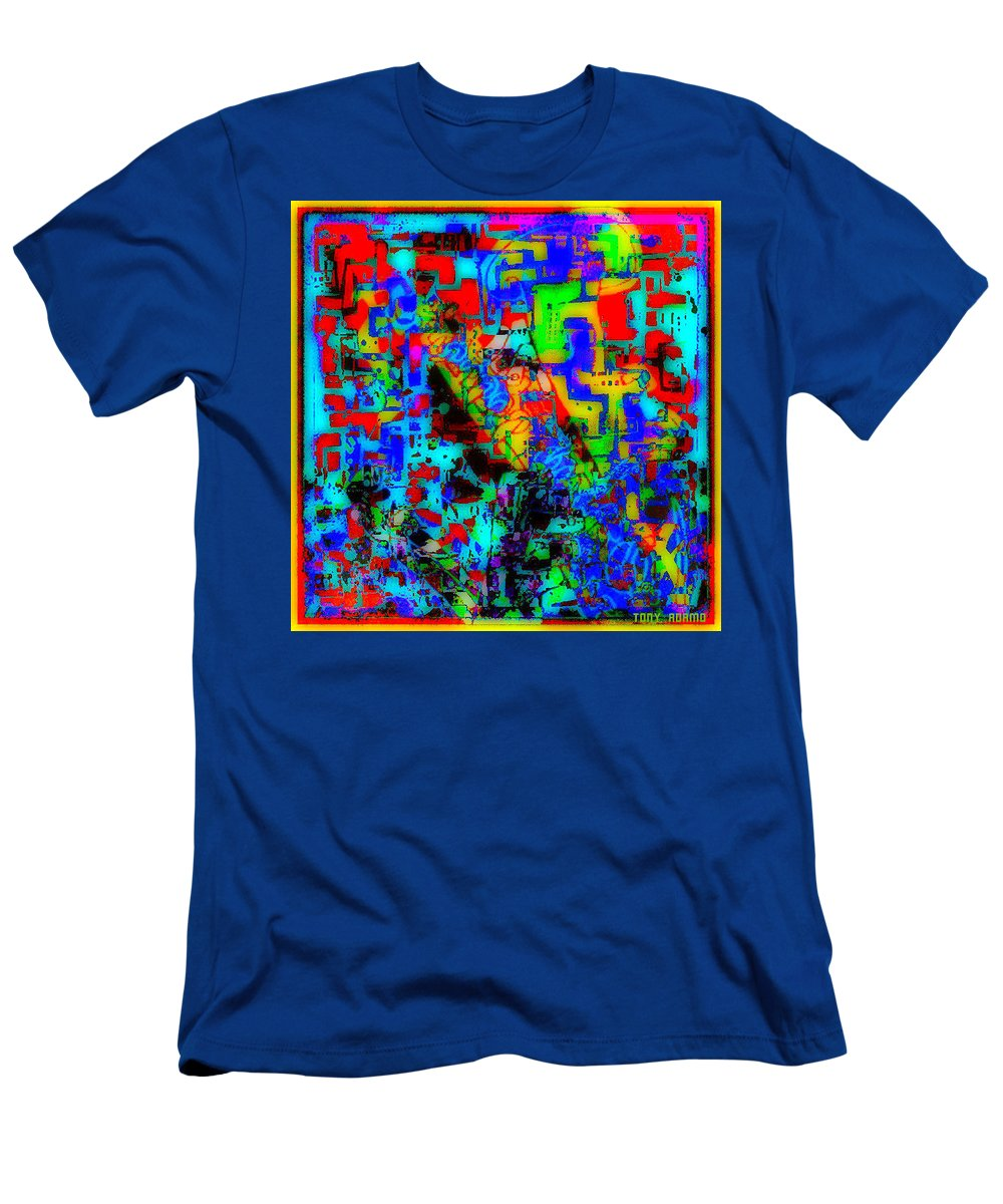 Blowin' The Horn For Heroin....tony Adamo/ Men's T-Shirt (Athletic Fit) featuring the digital art Blowin' The Horn For Heroin....tony Adamo/ by Tony Adamo