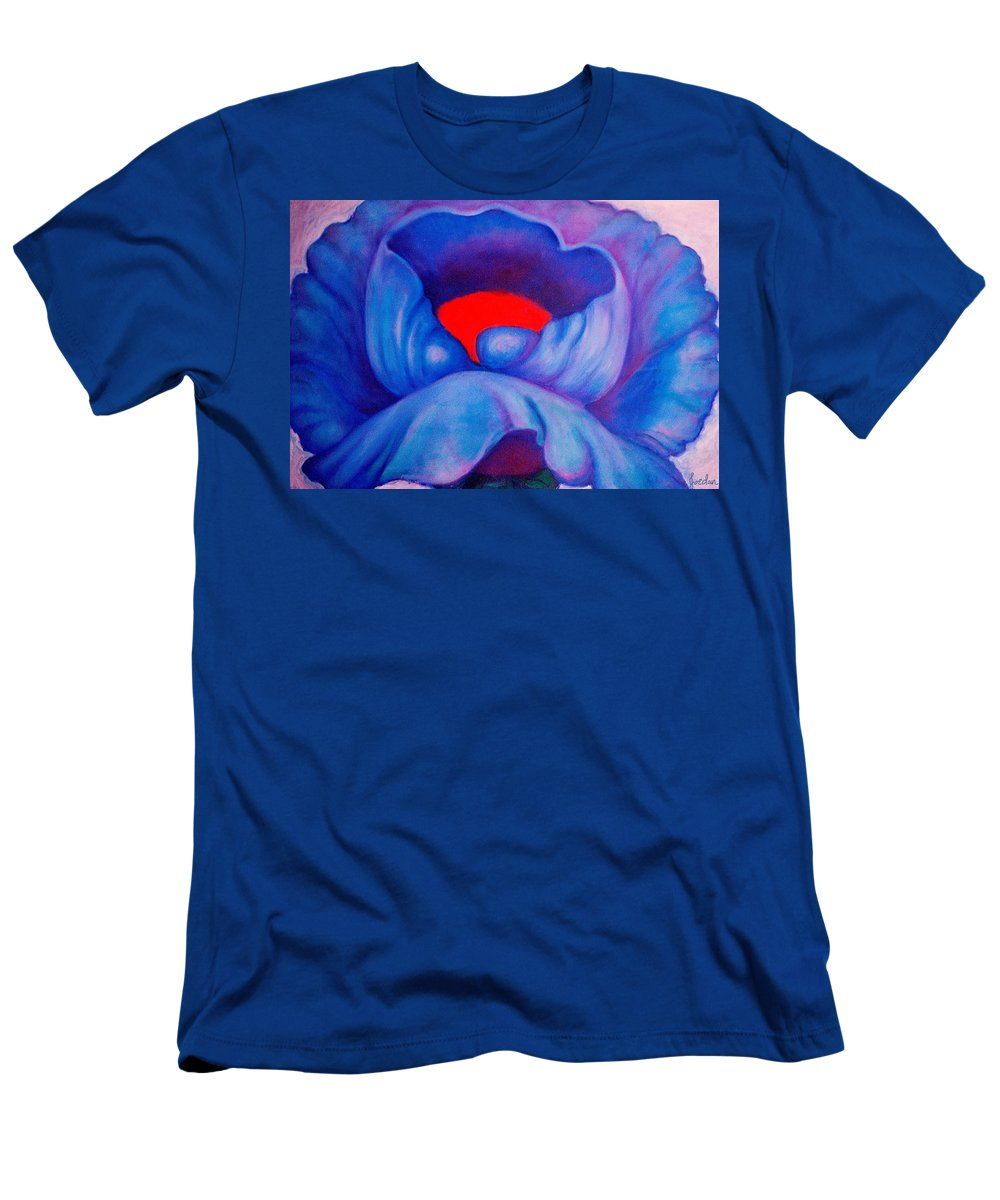 Blue Bloom Men's T-Shirt (Athletic Fit) featuring the painting Blue Bloom by Jordana Sands