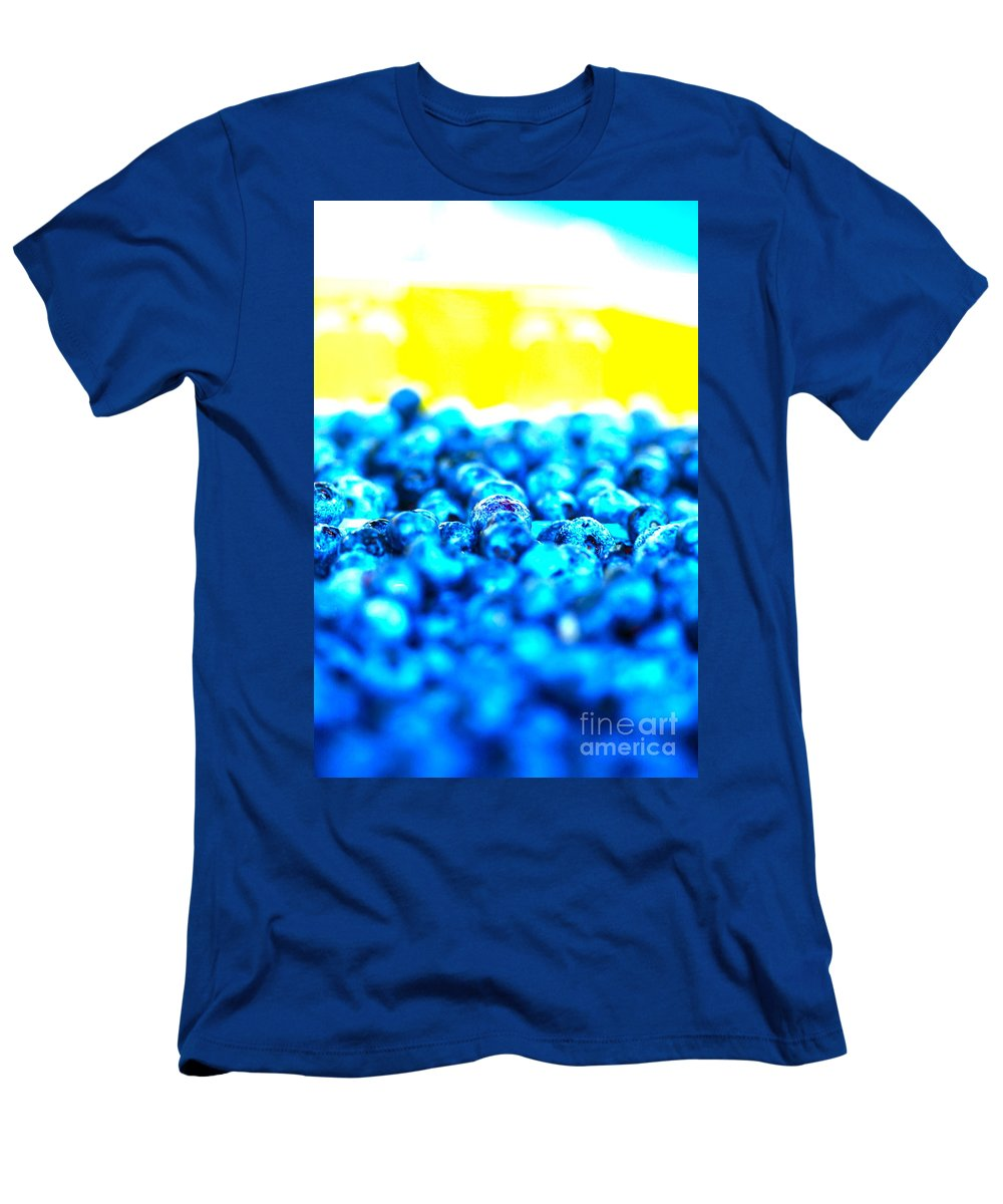 Blue Men's T-Shirt (Athletic Fit) featuring the photograph Blue Blur by Nadine Rippelmeyer