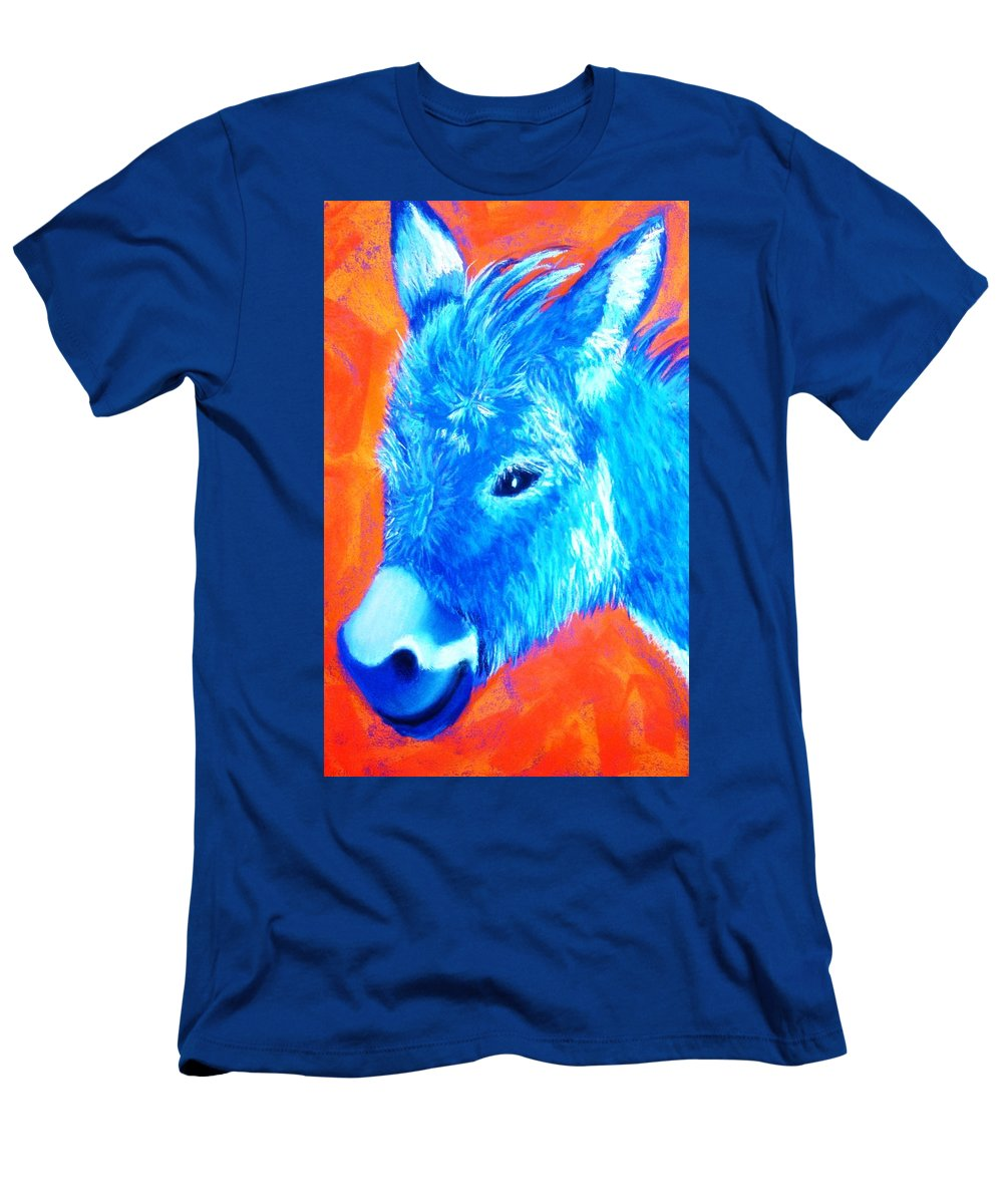 Burro Men's T-Shirt (Athletic Fit) featuring the painting Blue Burrito by Melinda Etzold