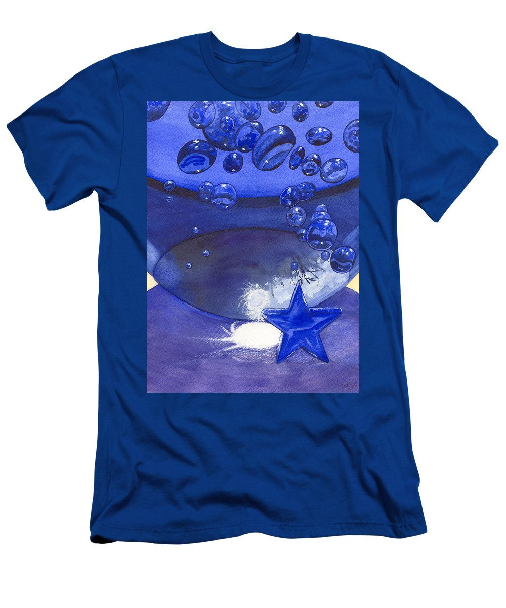 Blue Men's T-Shirt (Athletic Fit) featuring the painting Blue by Catherine G McElroy