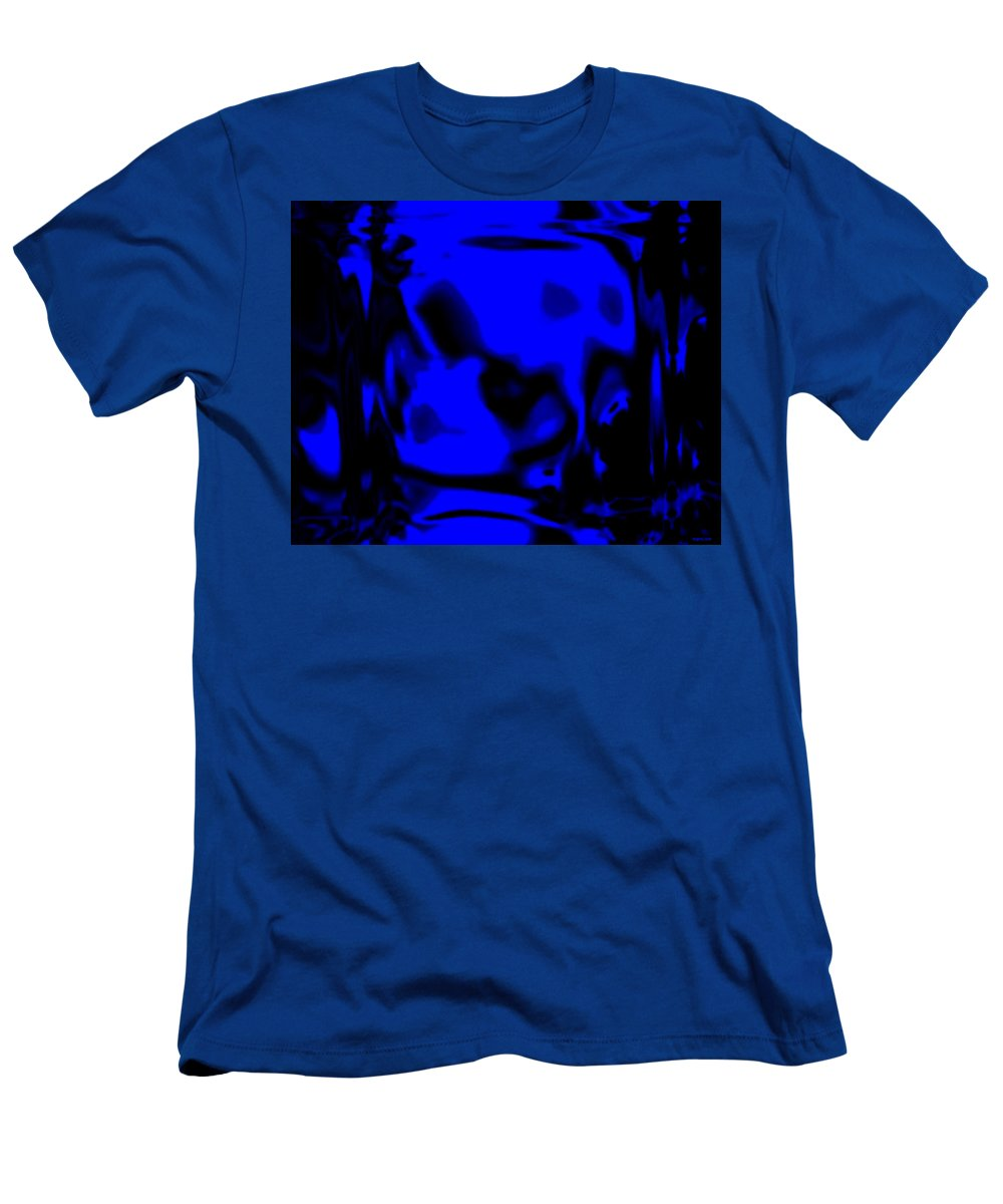 Aupre.com Hypermorphic Arthouse Unique Original Digital Art Made By The Hari Rama Men's T-Shirt (Athletic Fit) featuring the painting Blue Fashion by The Hari Rama