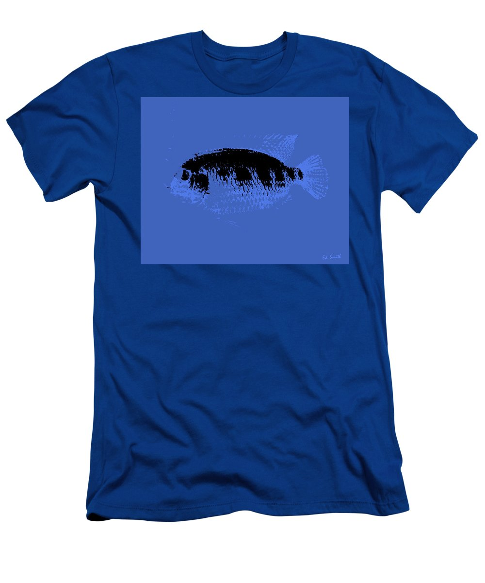 Blue Fish Men's T-Shirt (Athletic Fit) featuring the photograph Blue Fish by Ed Smith