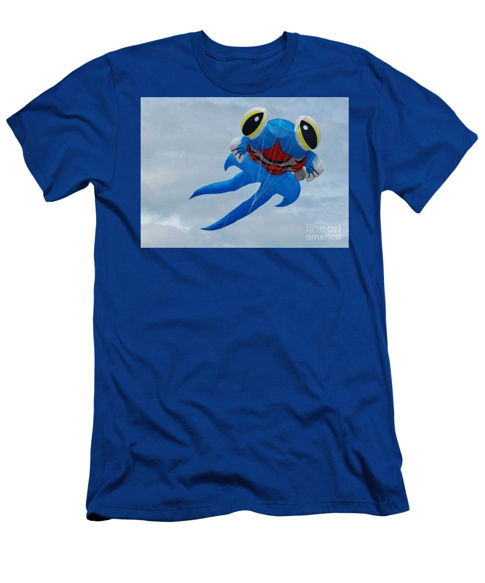 Blue Fish Men's T-Shirt (Athletic Fit) featuring the photograph Blue Fish Kite by Snapshot Studio