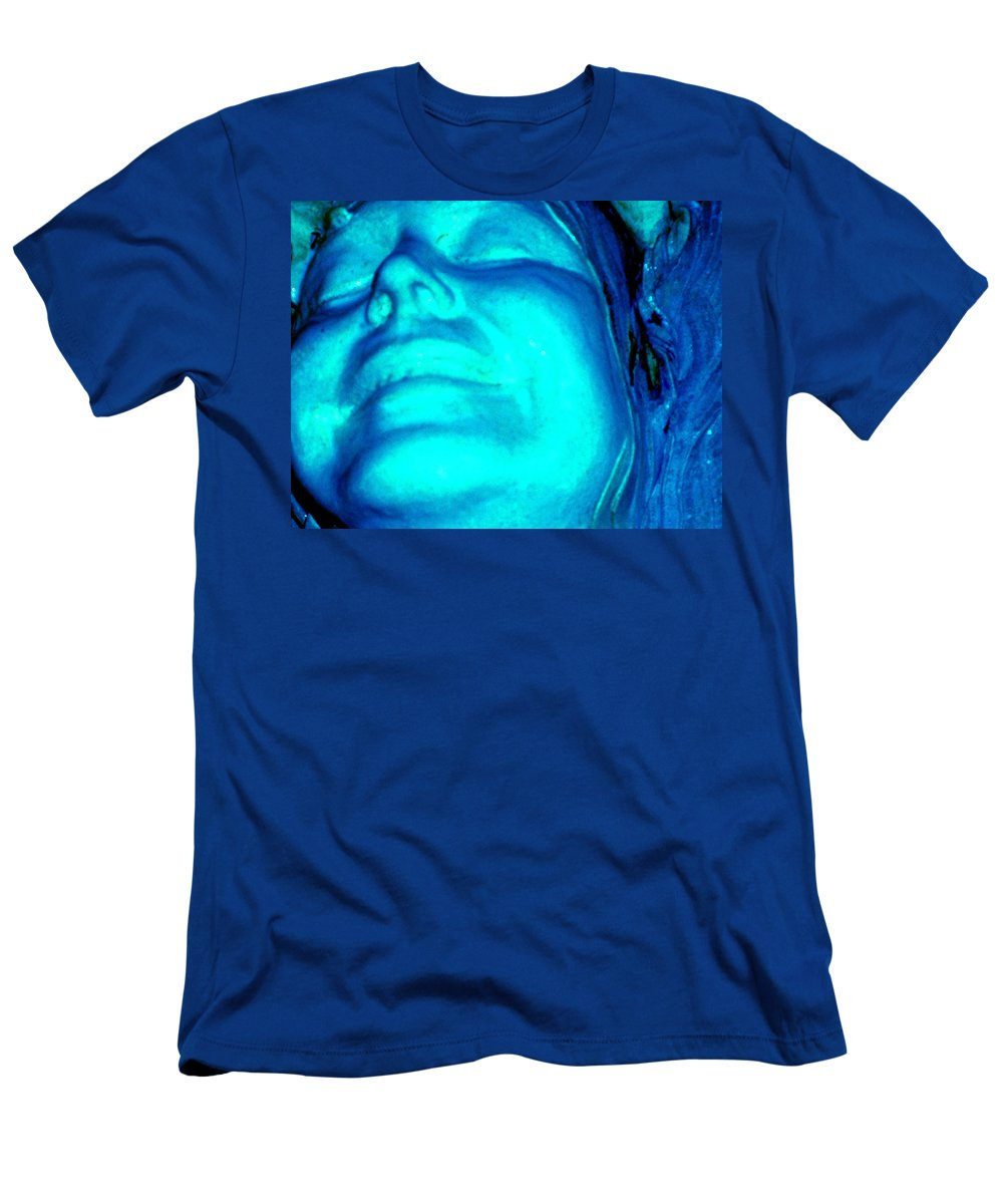 Blue Men's T-Shirt (Athletic Fit) featuring the photograph Blue Goddess by Wayne Potrafka