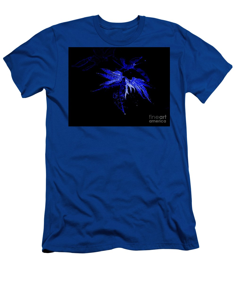 Blue Men's T-Shirt (Athletic Fit) featuring the photograph Blue Leaves by Anita Goel