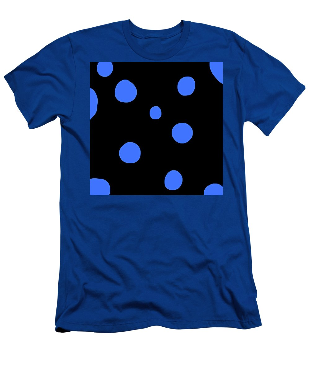 Men's T-Shirt (Athletic Fit) featuring the photograph Blue Polka Dot Design Request by Heather Joyce Morrill