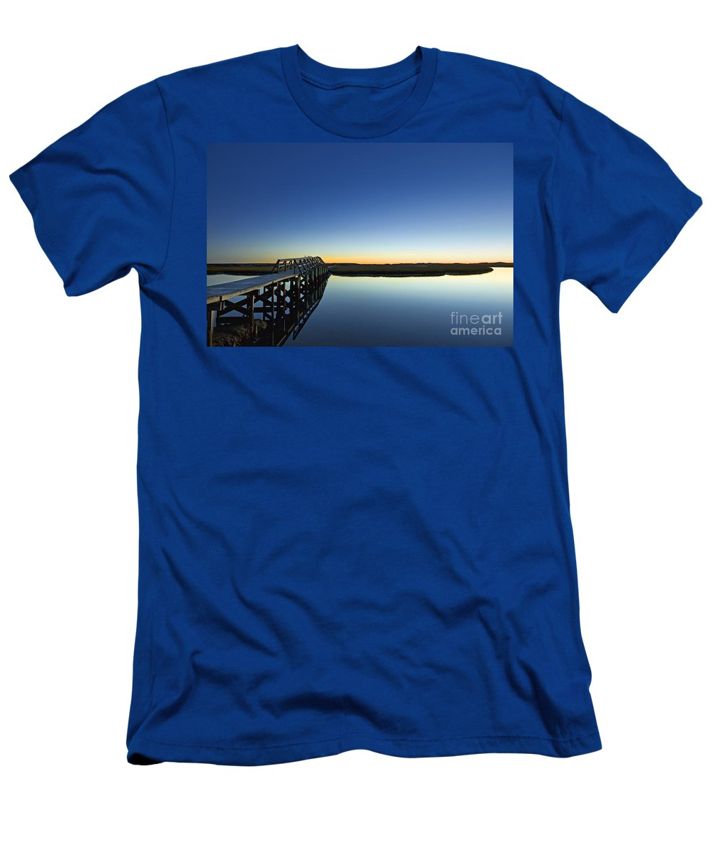 Beach Men's T-Shirt (Athletic Fit) featuring the photograph Boardwalk To Beach by John Greim