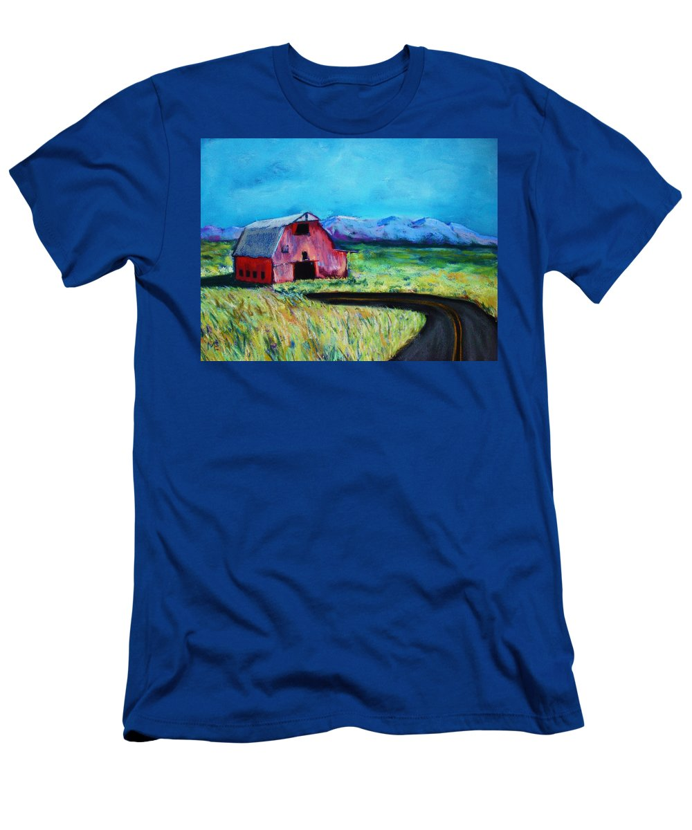 Barn Men's T-Shirt (Athletic Fit) featuring the pastel Bradley's Barn by Melinda Etzold