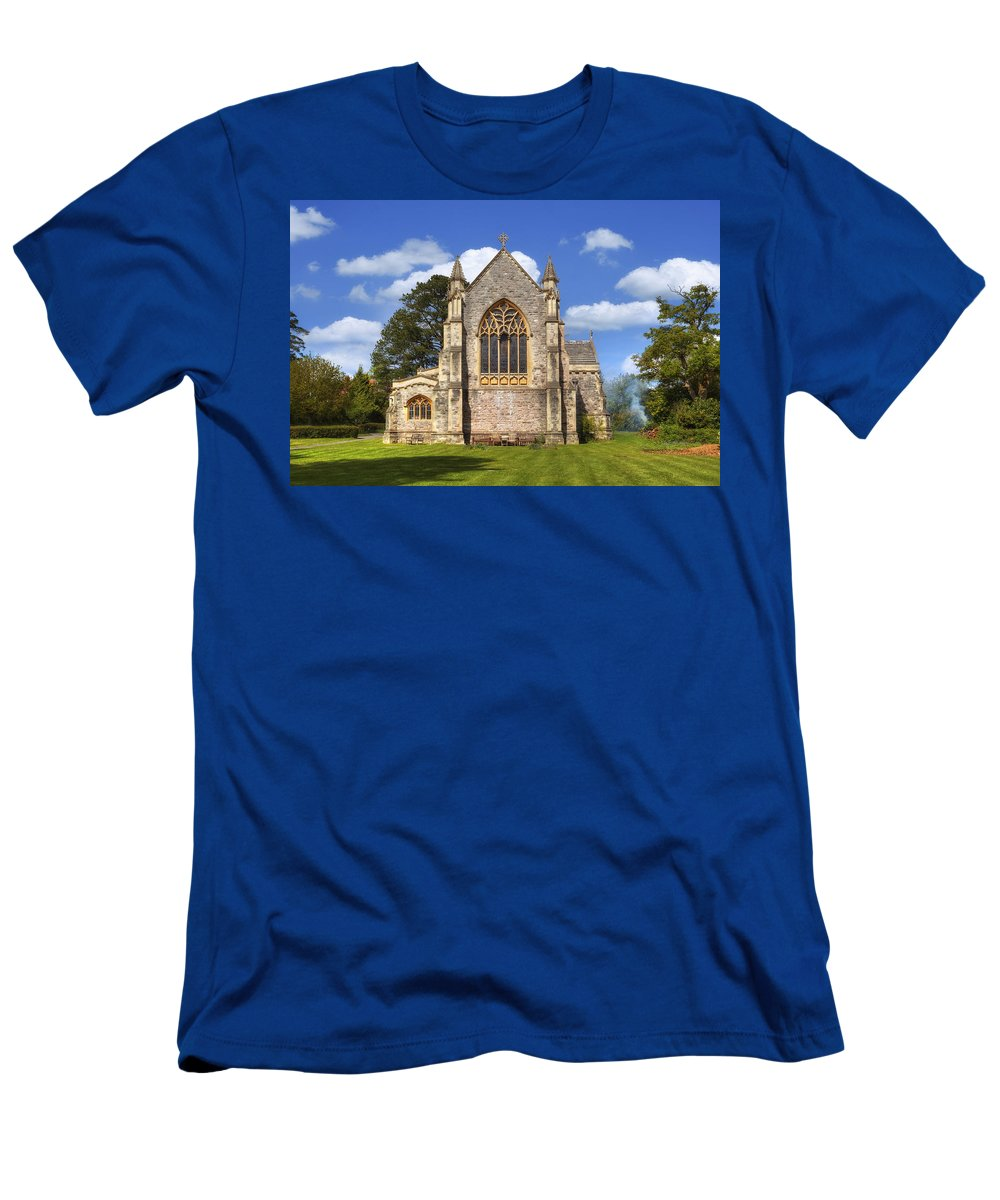 St Saviour Church Men's T-Shirt (Athletic Fit) featuring the photograph Brockenhurst - Hampshire - Uk by Joana Kruse