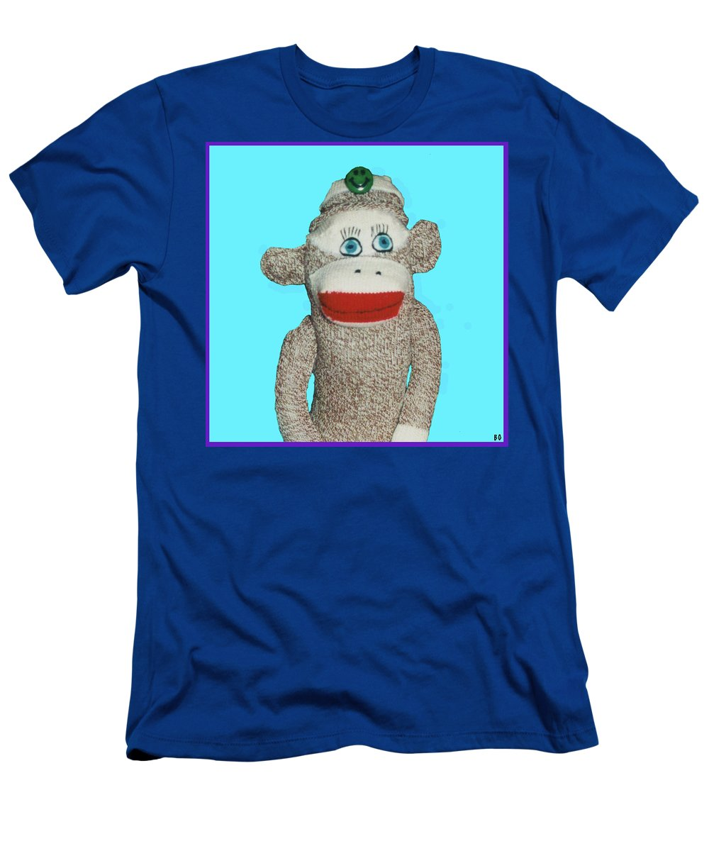 Sock Monkey Doll Men's T-Shirt (Athletic Fit) featuring the photograph Bud by Barbara Gerry