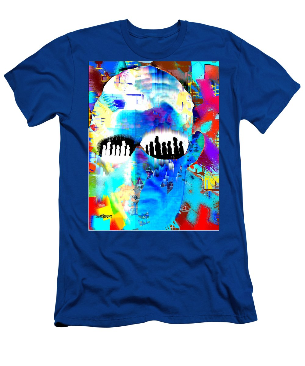 Button Down Men's T-Shirt (Athletic Fit) featuring the digital art Button Down Disasters by Seth Weaver
