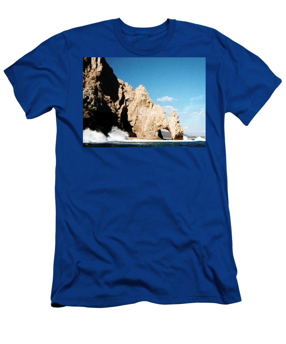 Mexico Men's T-Shirt (Athletic Fit) featuring the photograph Cabo San Lucas Arch by Will Borden