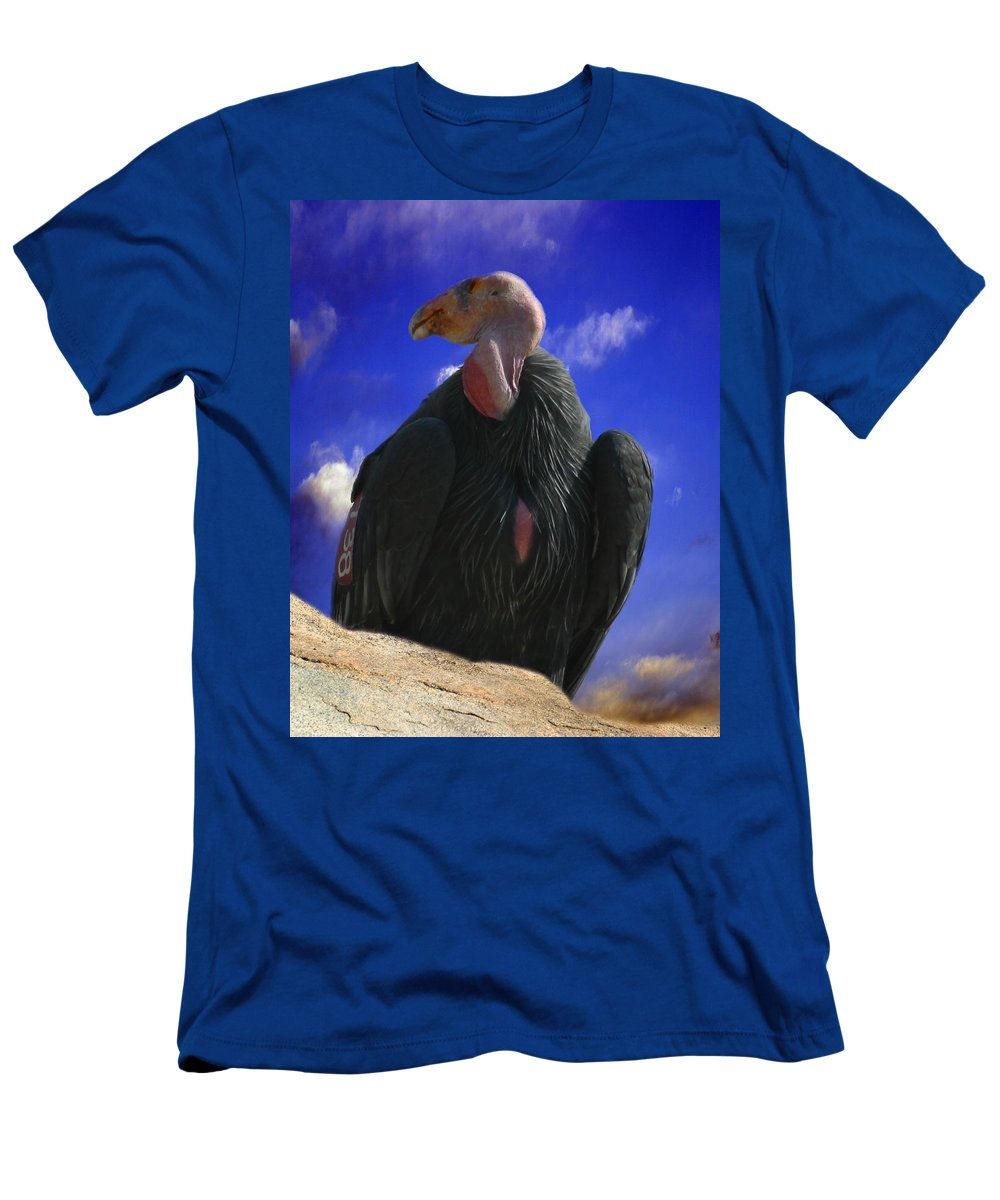 California Condor Men's T-Shirt (Athletic Fit) featuring the photograph California Condor by Anthony Jones