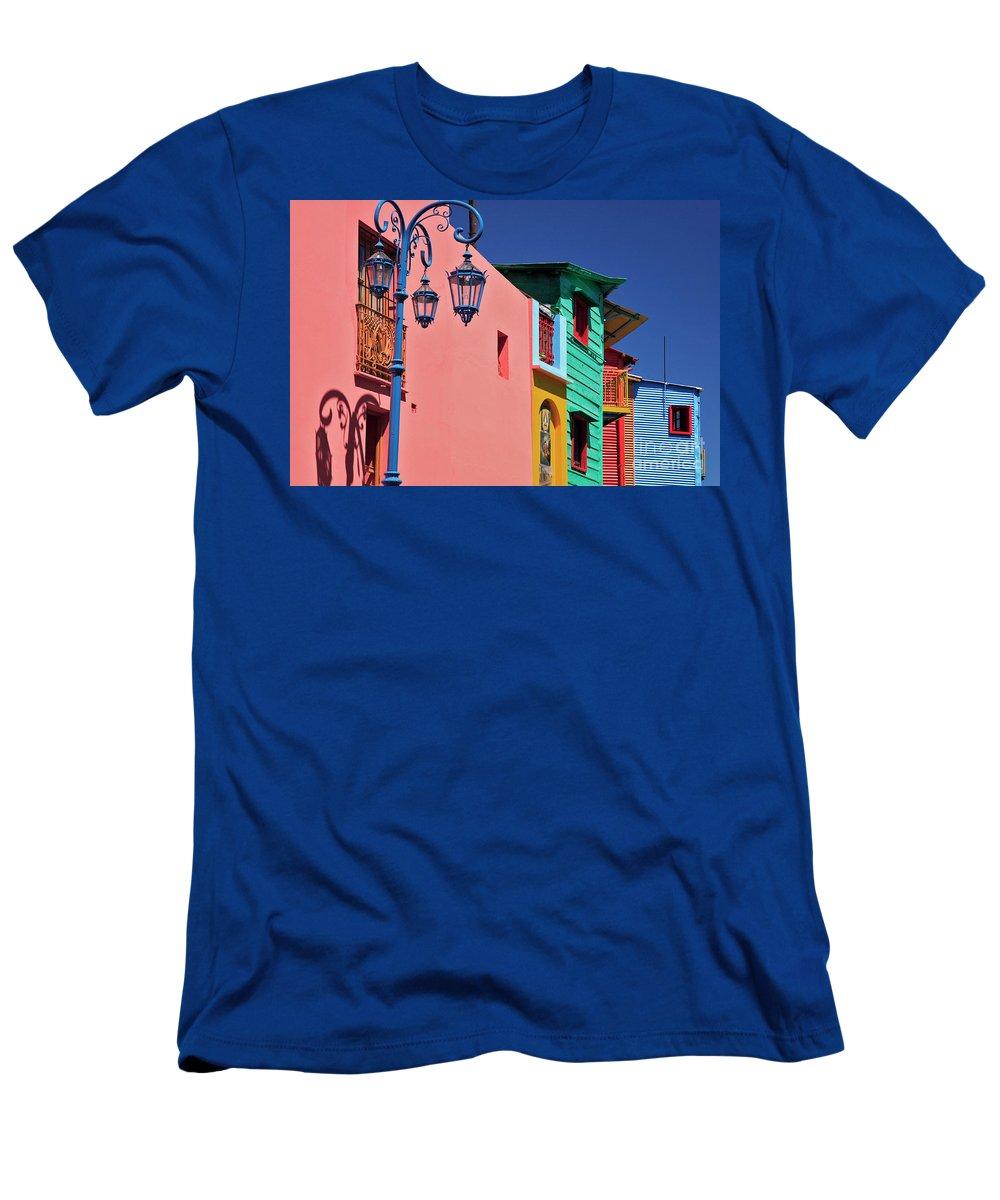 Caminito Men's T-Shirt (Athletic Fit) featuring the photograph Caminito by Bernardo Galmarini