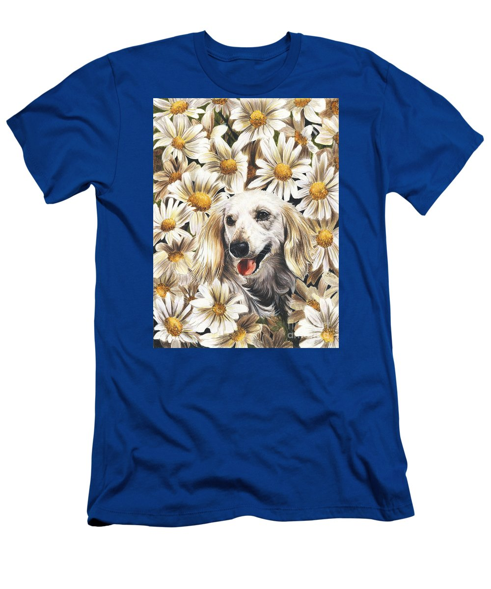 Dachshund T-Shirt featuring the drawing Camoflaged by Barbara Keith