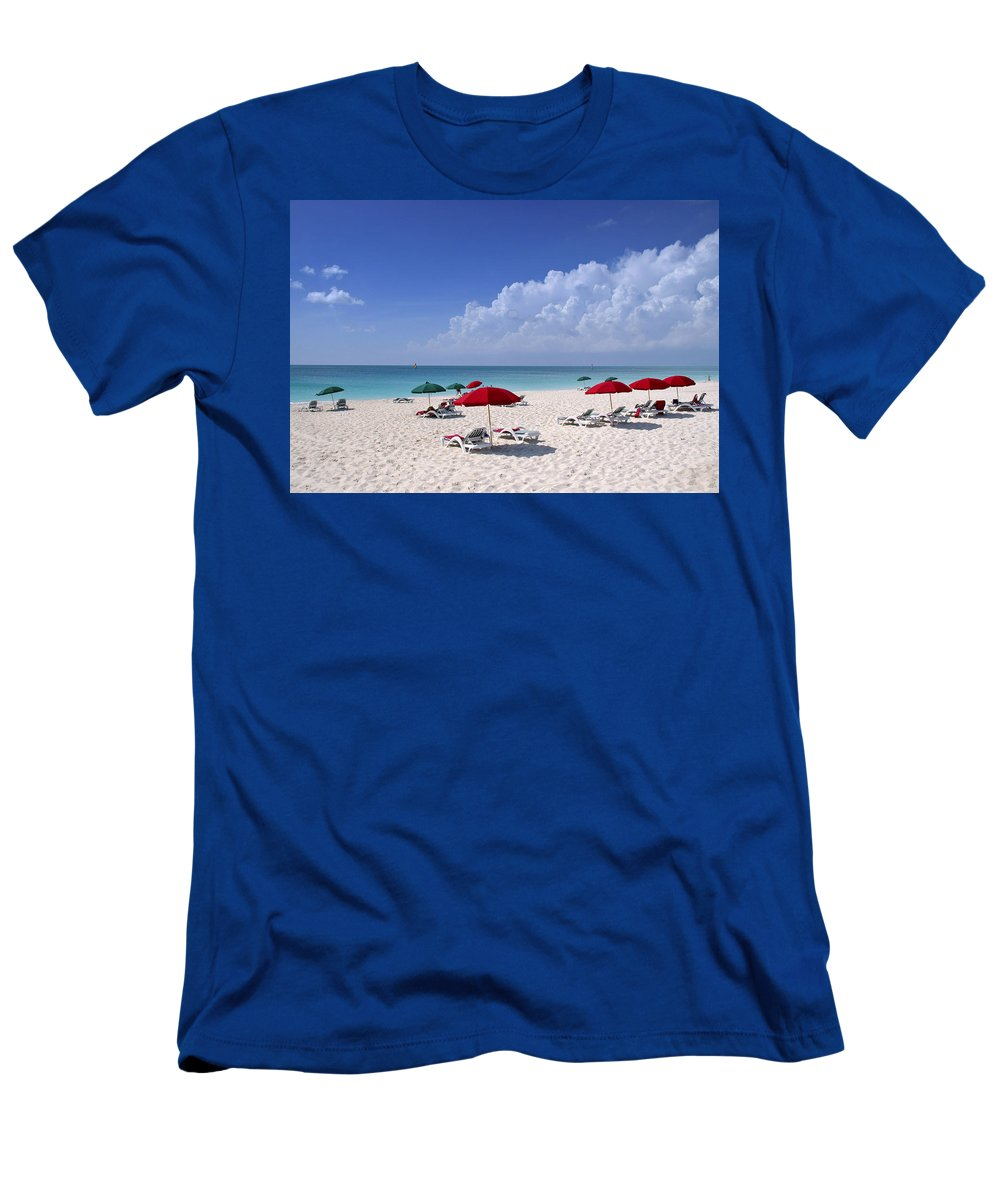 Ocean Men's T-Shirt (Athletic Fit) featuring the photograph Caribbean Blue by Stephen Anderson