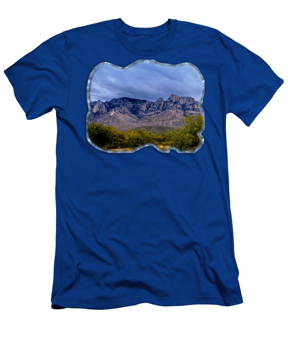 Acrylic Prints Men's T-Shirt (Athletic Fit) featuring the photograph Catalina Mountains P1 by Mark Myhaver