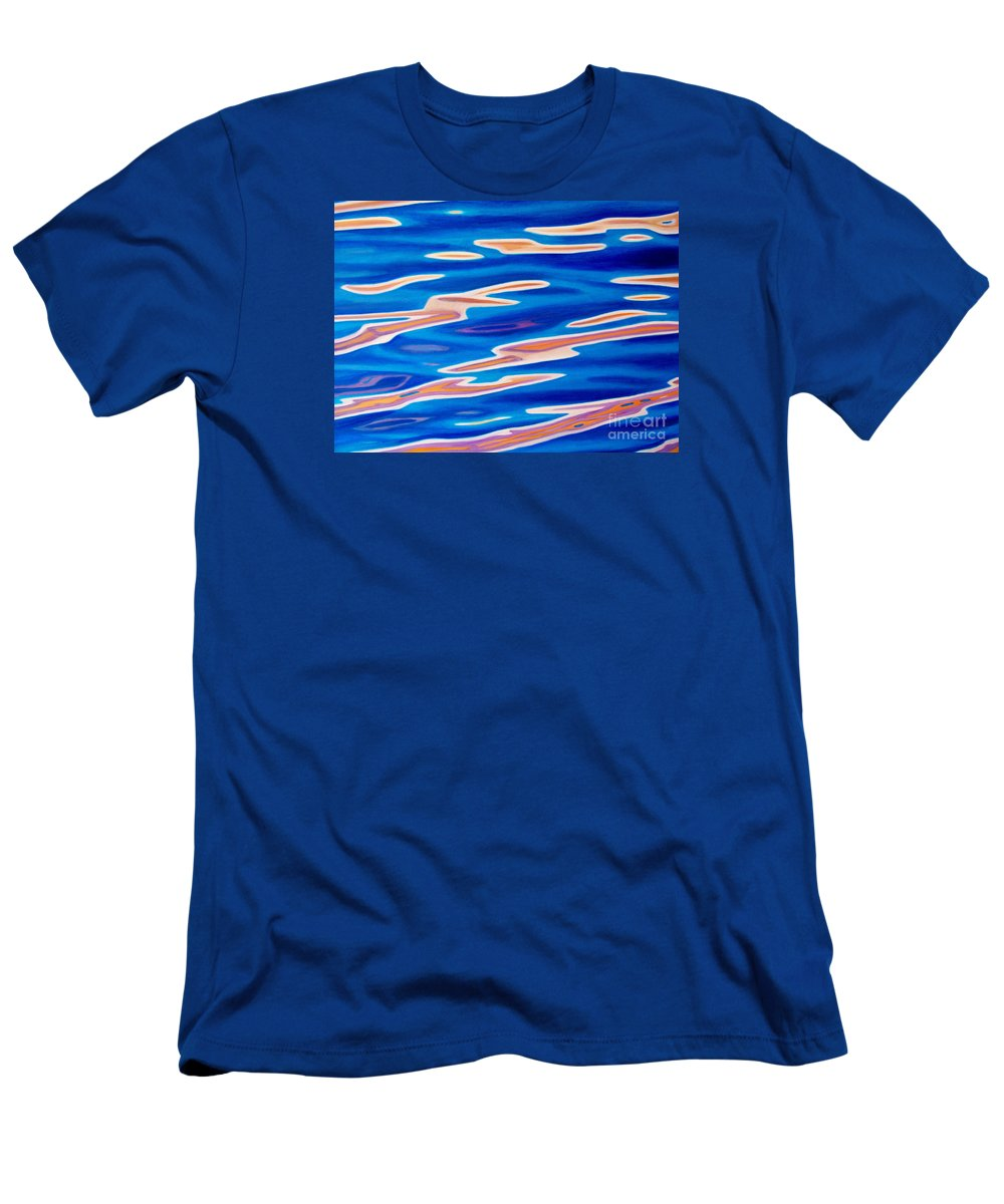 Ocean Men's T-Shirt (Athletic Fit) featuring the painting Catch The Wind by Brian Commerford