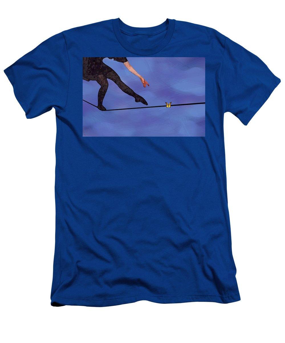 Surreal T-Shirt featuring the painting Catching Butterflies by Steve Karol
